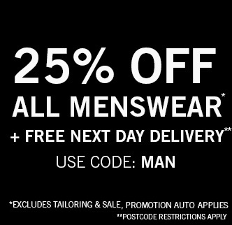 25% Off Menswear