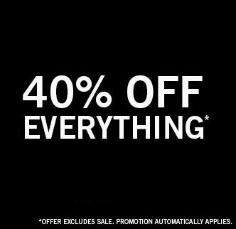 40% Off Menswear