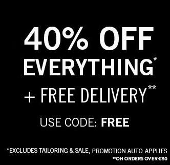 40% Off Menswear